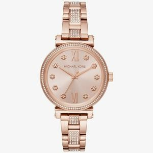 MICHAEL KORS Sofie Pavé Rose Gold-Tone Watch Style